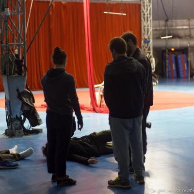 Les artistes du cirque piste d'Azur (pour Ce qui nous reste)